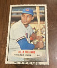 1965 Bazooka BILLY WILLIAMS Chicago Cubs 17 Of 36 Great Looking Card Hand Cut