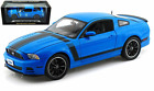 2013 FORD MUSTANG BOSS 302 BLUE 1 18 DIECAST CAR MODEL SHELBY COLLECTIBLES SC450