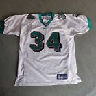 Vintage Miami Dolphins Ricky Williams #34 Authentic Reebok White Jersey 48