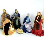 Holiday Living 6 Piece Nativity Set Paper Mache Figurines 4 to 12in Tall
