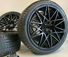 20 WHEELS RIMS TIRES FIT BMW 3 4 SERIES 3 4 5 6 M BLACK M 666 COMPETITION stag