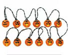 Lemax Spooky Town- Lighted Pumpkin Garland -String of 12 Lights Holiday Village