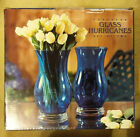 European Glass Hurricanes vase or candle holders set of two