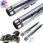 35 Megaphone Exhaust Pipes Mufflers Slip On For Harley Electra Glide Road King