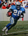 Barry Sanders Signed Detroit Lions 16x20 FP Running Photo - Beckett Auth *Black