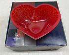 Mats Jonasson Maleras Sweden Lead Crystal Red Heart Large Bowl Candy Dish