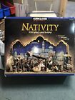 Kirkland Nativity Scene 3 Panel Lighted Backdrop 20 Piece set