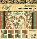 RETIRED Graphic 45 ENCHANTED FOREST 8x8 Paper Pad 24 pages 3 each 8 designs