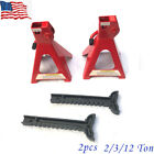2 Pcs 2312 Ton Car Jack Stand Truck Auto Emergency High Lift Garage Tool Set