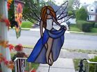 Stained Glass Pot Sitter Fairy Sun catcher Real Glass