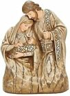 Holy Family 633302 Nativity Wood Look w Mosaic Accents 725 H Resin Brown