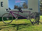 58cm medium front 52 cm small stoker 700c purple Cannondale tandem bicycle