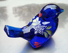 Fenton Glass Cobalt Blue Bird H P Stars from the 4th July Holiday Parade Design