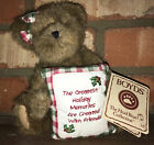 NWT-2004 Boyd's Beary Goodfriend Head Beans Thinkin Of Ya Series Holiday Bear 8""