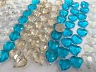 Bulk Lot 10 lb CRYSTAL Beads for DIY Beading Mix Size Colored Heart Beads Glass