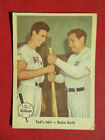 1959 Fleer Ted Williams #2 Ted's Idol Babe Ruth Boston Red Sox VG