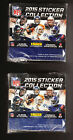 2 SEALED BOX LOT PANINI NFL STICKER BOXES 50 PKS PER TOM BRADY DREW BREES 2015