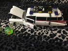 GHOSTBUSTERS Ecto 1 Diecast Movie Car 1959 Cadillac w Slimer RARE ERTL