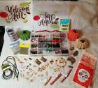Fall Colors Jewelry Making Supplies Lot Glass Beads Ceramic Pumpkins Spacers