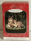 Hallmark Timber Wolves at Play Ornament, 1998, No. 2 Majestic Wilderness Series