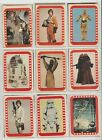 RARE 1977 TOPPS Star Wars Series 4 GREEN 29 CARD STICKER LOT VG COMPLETE a SET A