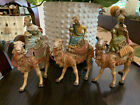 Fontanini Italy Nativity Collection 3 Piece Kings Magi Wise Men Camels 1992