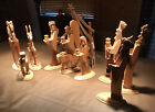 Nativity Manger Set 10 Pc Handmade Wooden
