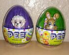 NEW PEZ DISPENSER SEALED EASTER lot of 2 EGGS. Sheep and Bunny. Very cute.