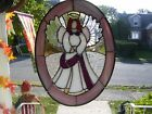 Stained Glass Angel  Cross Sun catcher Real Glass