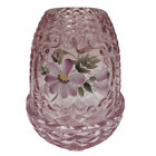 Fenton Pink Fairy Light Lamp Floral Hand Painted