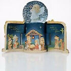 Nativity Come Let Us Adore Him LED Musical w Snow Globe 95
