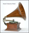 ANTIQUE VICTOR III PHONOGRAPH WITH WOOD HORN WE SHIP WORLDWIDE