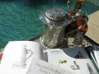 OLD HUGE ITALIAN TANKARD STEIN SILVER MYTHICAL DOLPHIN BERRIES REPOUSSE sterling