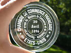 Cartier Crystal Paperweight Commemorative Chamber of Commerce 1896 Rare 375