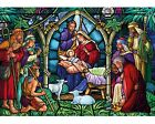 WENTWORTH WOODEN JIGSAW PUZZLE STAINED GLASS NATIVITY 1000 PIECE Christmas WW