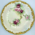 TV LIMOGES FRANCE DEPOSE HAND PAINTED Large Plate 13 Signed Bouteoau EXCLT