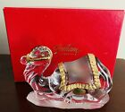Gorham Crystal Shiny Gold Nativity Camel Made in Germany With Original Box