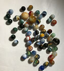 ESTATE SALE FIND Vintage  Antique Glass Marbles  Shooters 50 + Marbles mixed