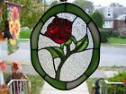 Stained Glass Enchanted Rose Sun catcher Real Glass
