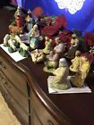 CHRISTMAS 17 PCS VTG NATIVITY CHALK WARE PLASTER HAS IMPERFECTIONS SEE PICTURES
