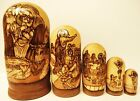 Alkota Russian Genuine Collectible Nesting Doll The Birth of Jesus Christ 7H