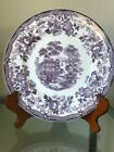 Tonquin Royal Staffordshire by Clarice Cliff Mulberry 7 Dinner & 7 Soup Plates