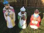 Vintage Empire Blow Mold Three 3 Wise men Light Up Nativity Set 1982