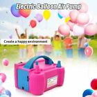 Electric Balloon Air Pump High Power Two Nozzle Blower Inflator Fast Portable In