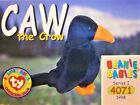 1998 Series I CAW the Crow #59 (4071) TY Beanie Babies (BBOC) Trading Card