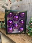 4 Boxes 8 By Krebs Glass Christmas Ornaments Purple Blue Green Cabernet 2 5 8