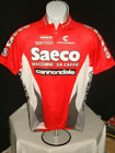 Vtg NWOT Mens Cannondale Saeco 3 4 zip s s red cycling jersey Sz L