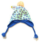 Cat & Jack Winter Hat Beanie Blue Winter Hat With Pink Pom Size 4-7