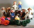 Handmade Crocheted Christmas Nativity Set Hand knitted Traditional characters