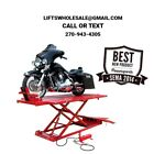 Titan 1500 lbs Extra Long  Tall Motorcycle Lift w Front  Side Extensions